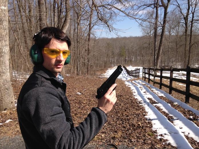 Jon Hardister with Beretta 92F