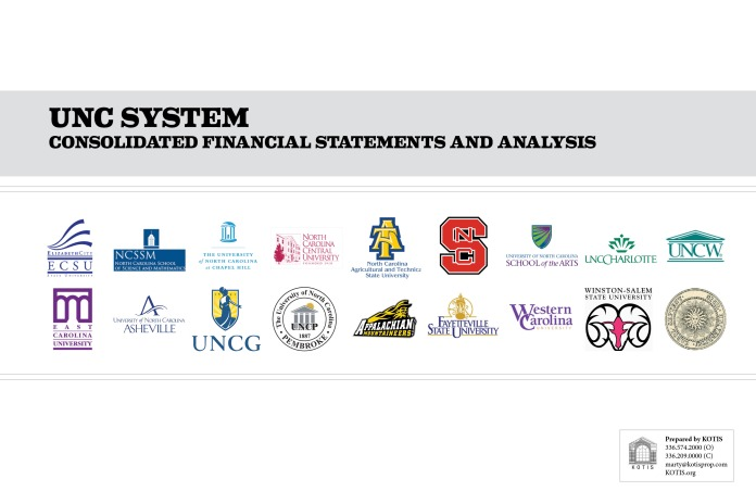 Cover Page of the Detailed Consolidated and by Campus Financials