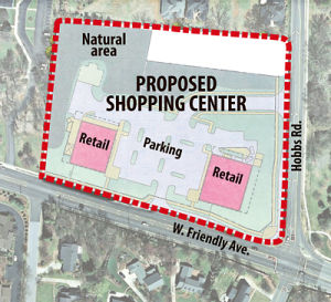 Site Plan of the Proposed Friendly Avenue Rezoning