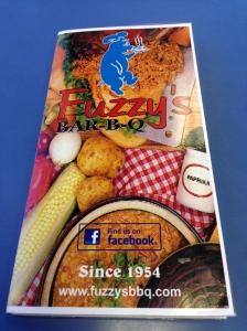 Fuzzy's BBQ - Menu Cover