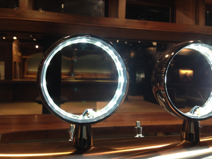 Looking through the LED rings that will display beer logos and names