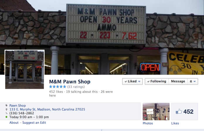 M&M Pawn Facebook Page Header