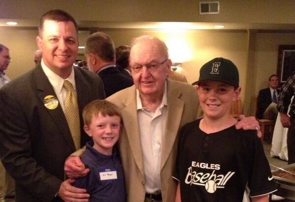 Congressman Coble with Phil Berger, Jr. and his sons