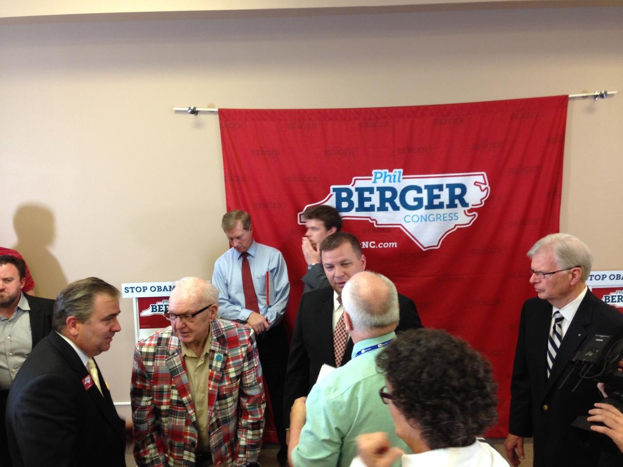 Congressman Coble and Phil Berger, Jr. after the Endorsement